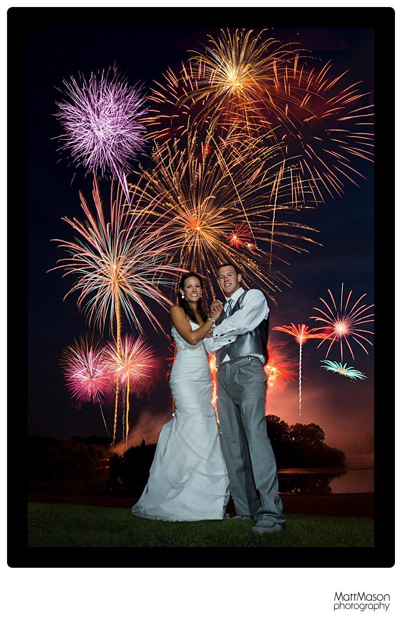 Grand Geneva, Fireworks, 4th of July Wedding