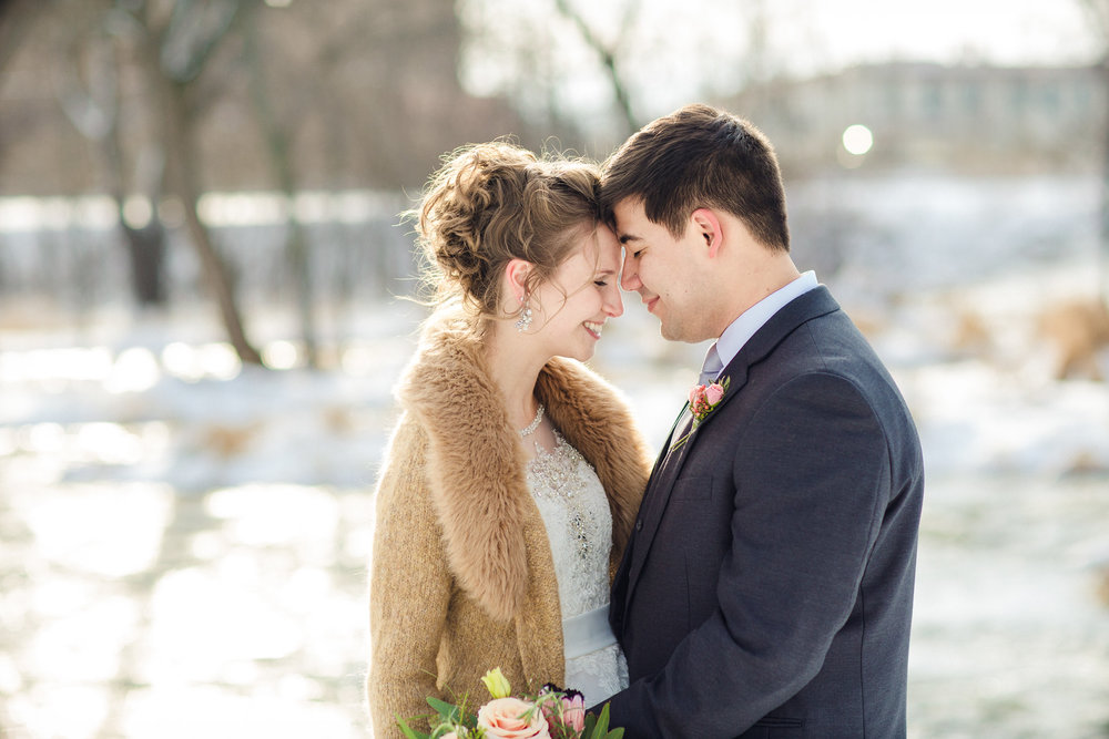 Emily + Brad at Veteran's Terrace (January 1, 2016)