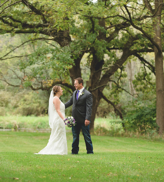 Mandie + Steve at Evergreen Country Club