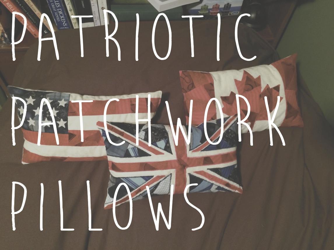 patriotic patchwork pillows
