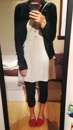 Throwback to Megan's first post, in which she talks more about getting off the trend train and buying to last. Nice outfit Megan!