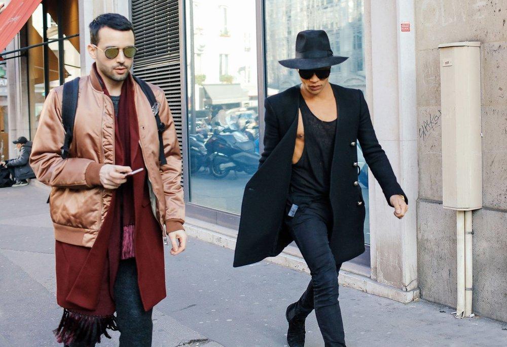 Street Style  Paris Fall Winter 2016 Men s Fashion Week — Middle ... f5aa7870b2e