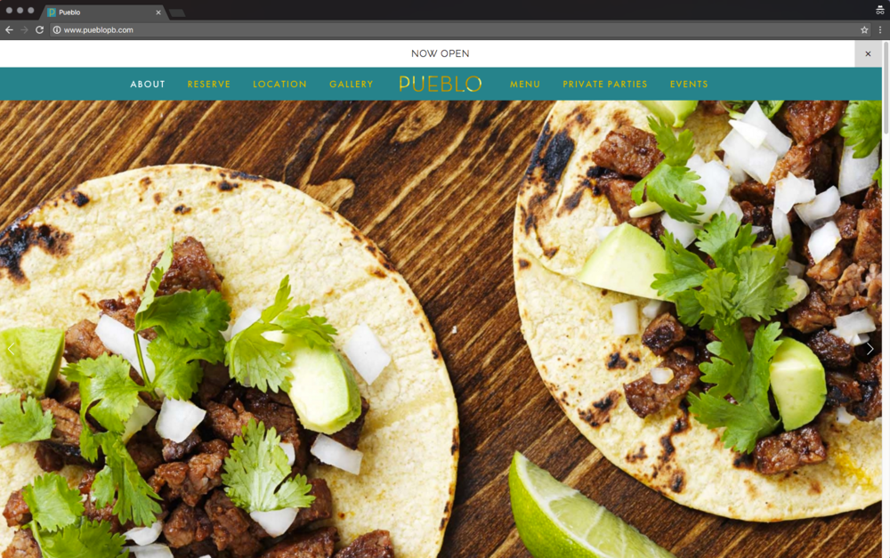 Pueblo website home page sliding banner