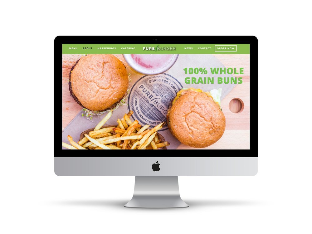 Pure Burger Website