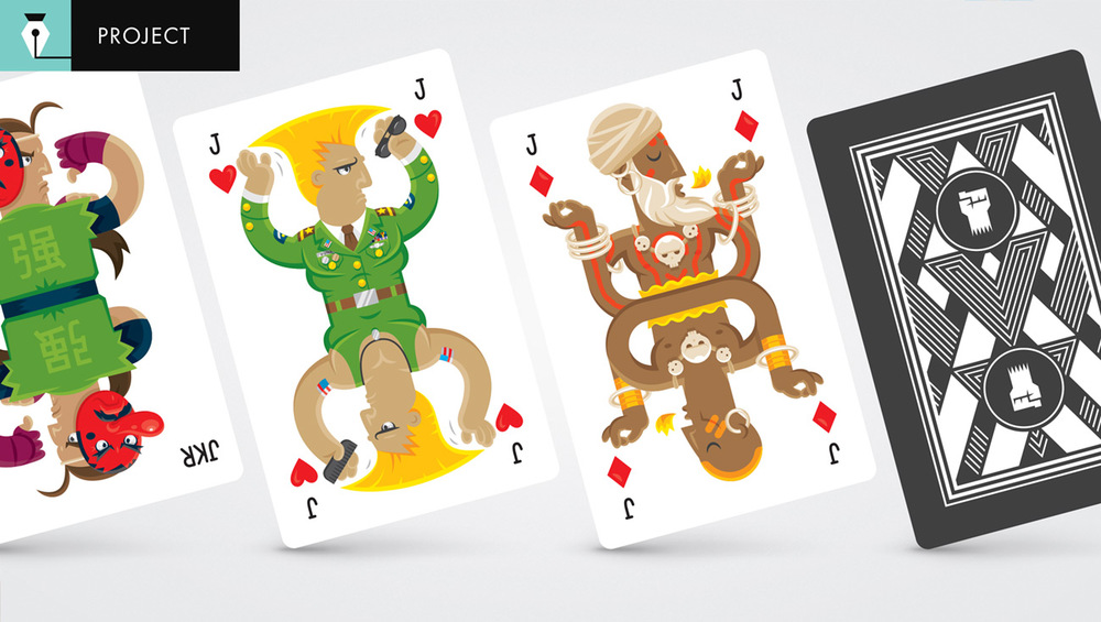 Preview of the Street Fighter playing cards to come.
