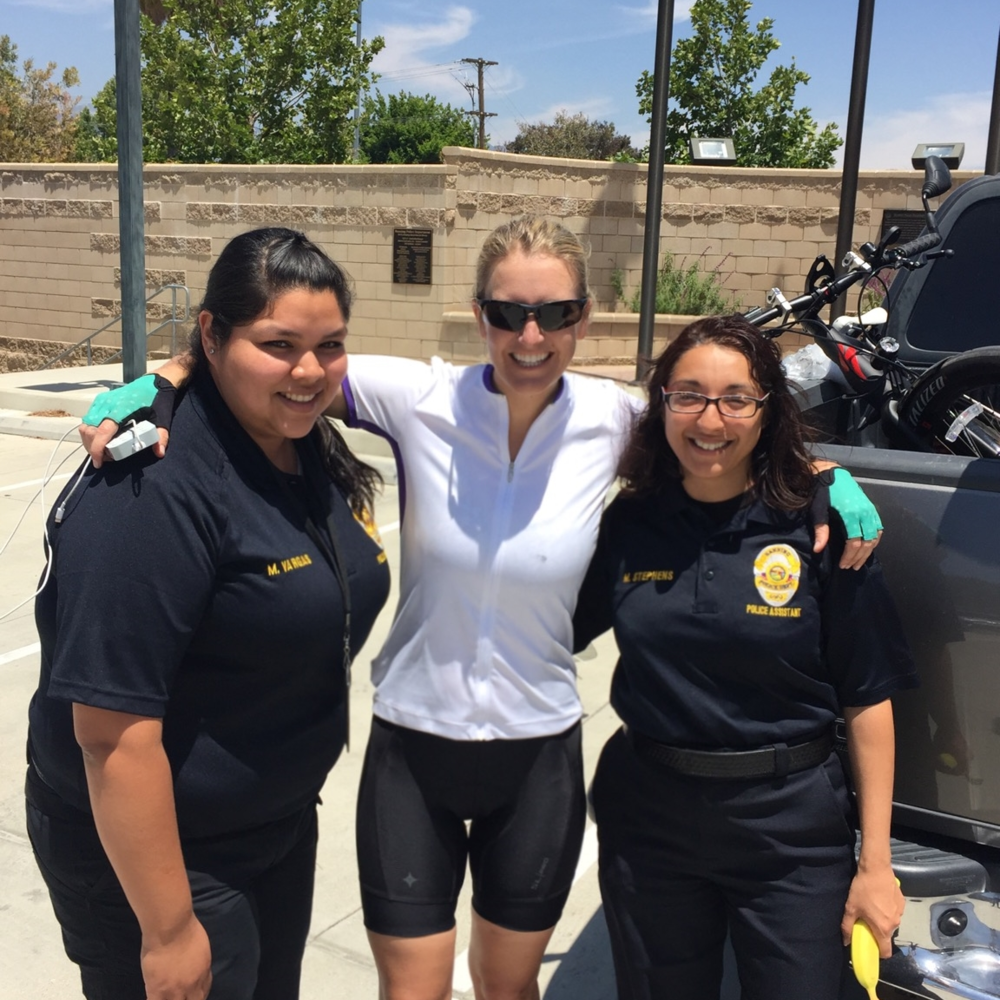 Mandy & Maria  Thank you for welcoming me into the Banning Police Department and helping me find a way to cross the 2.5 mile stretch. Maria, you made it happen by graciously offering your truck and driving me. Good karma coming your way!