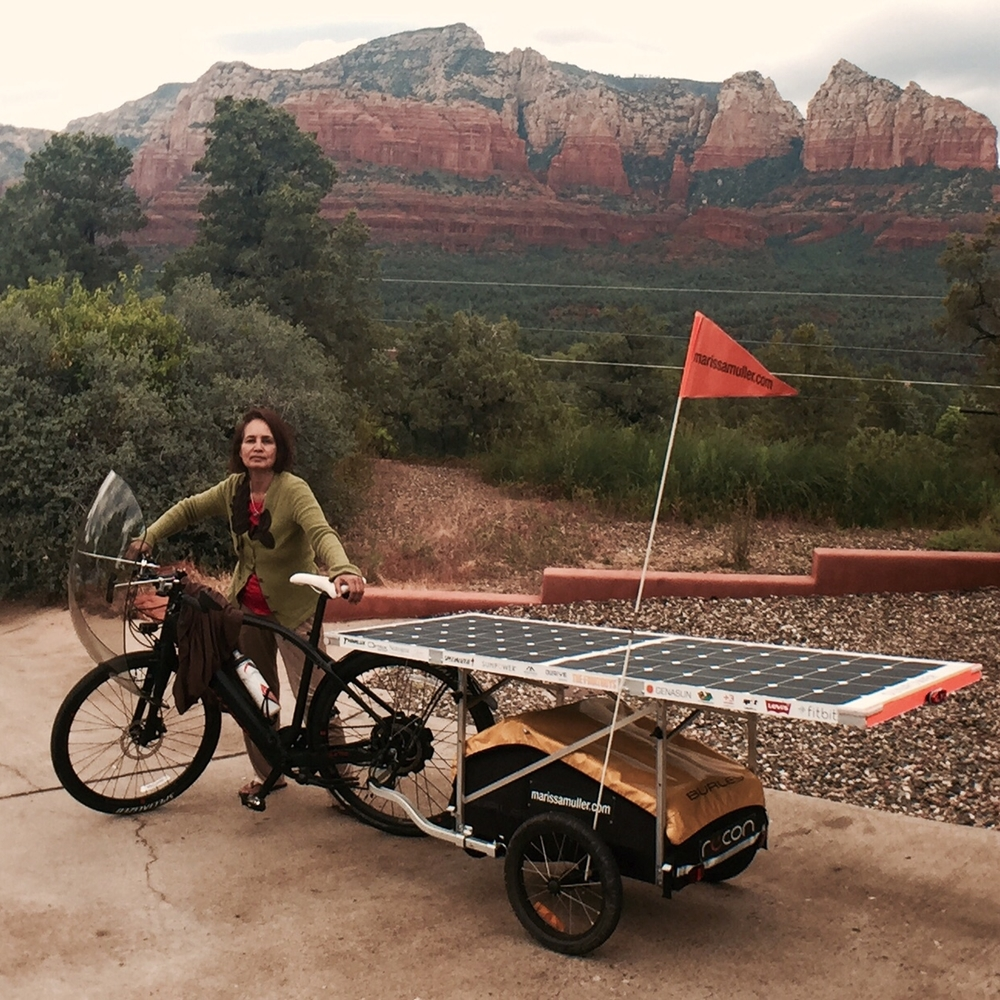 Diya, my Airbnb host in Sedona   You were a wonderful host, making me feel right at home and giving me insight into Sedona. Thank you for the great dialogue and for having the most handy, bike savvy son. I appreciate the tune up!