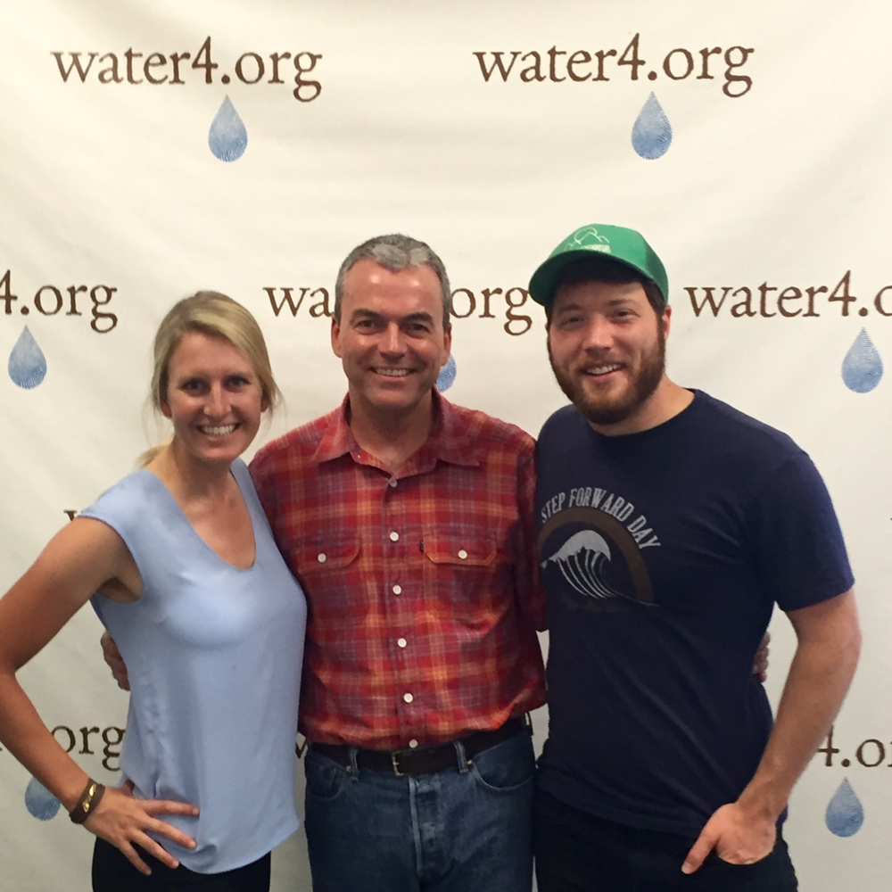 Jim Stewart, Partner Development at Water4 (center) and Ryan Groves, CEO of Wishing Well