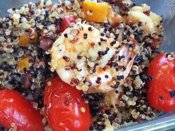 quinoa and prawns for a snacky