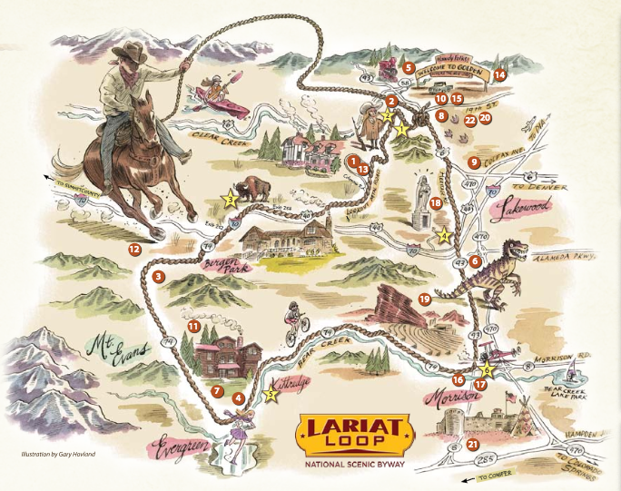 Lariat Loop Map