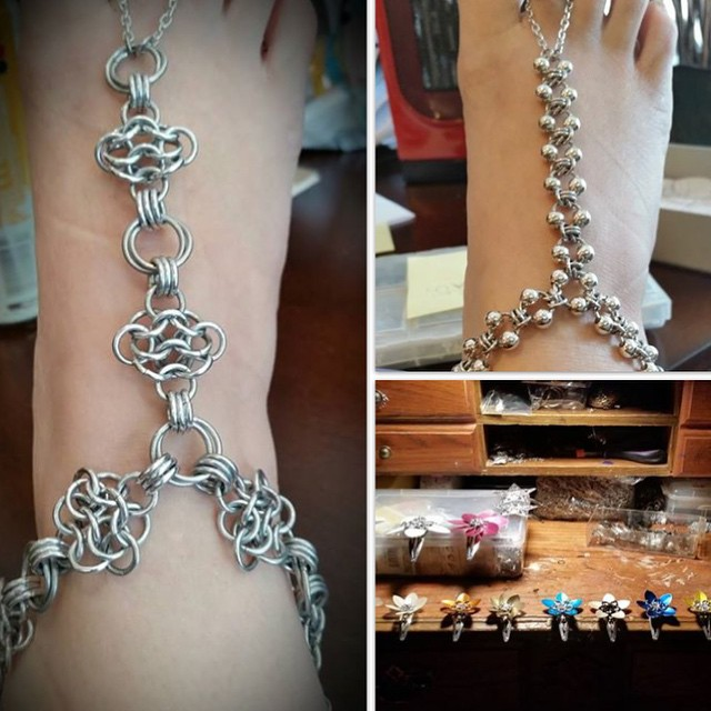 Missing Link chain mail jewelry is going to be back with her camper full of pretties! #2ndSatICT #dddICT #madeinICT