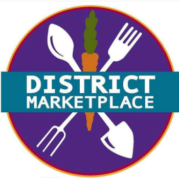 FOOD TRUCKS • LOCAL ARTISANS • LIVE MUSIC District Marketplace is an outdoor public venue founded to promote community, arts, food and foraging to enhance the quality of life in the Wichita area... And it's just outside our front door!