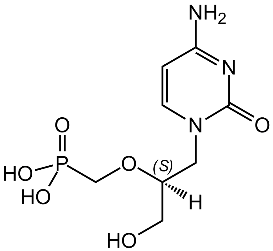 Cidofovir structure (credit: wikipedia)