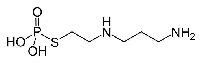 Amifostine (Ehtyol™) is metabolized into active WR-1065