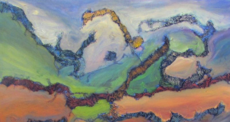 """A Portion of the Artwork on Exhibition """"Material Landscape II"""""""