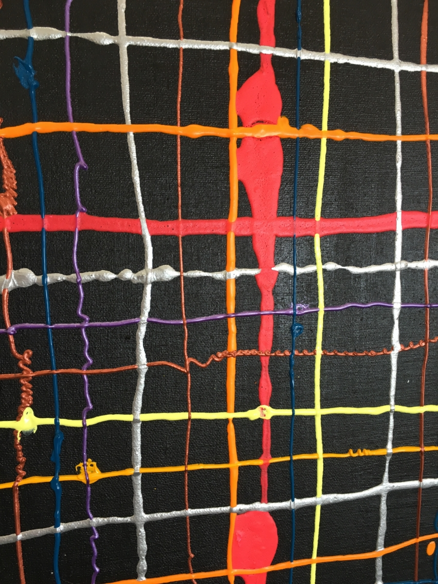 Weaving Paint on Canvas