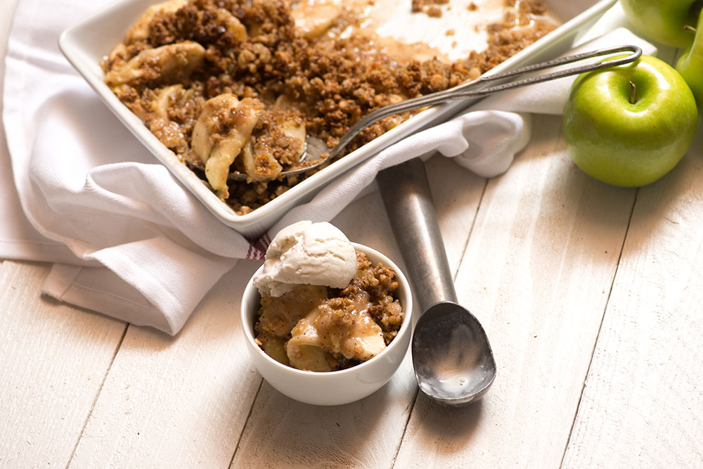 Caramel Latte Apple Crisp
