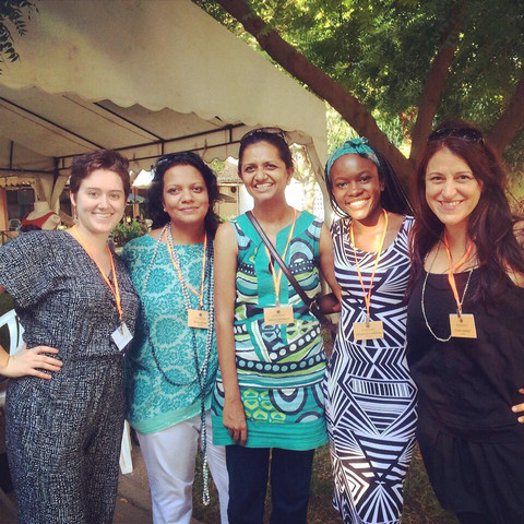 Ashley, Sona, Nisha, Dorothy, and Dyan at the November 2014 Artisan Market