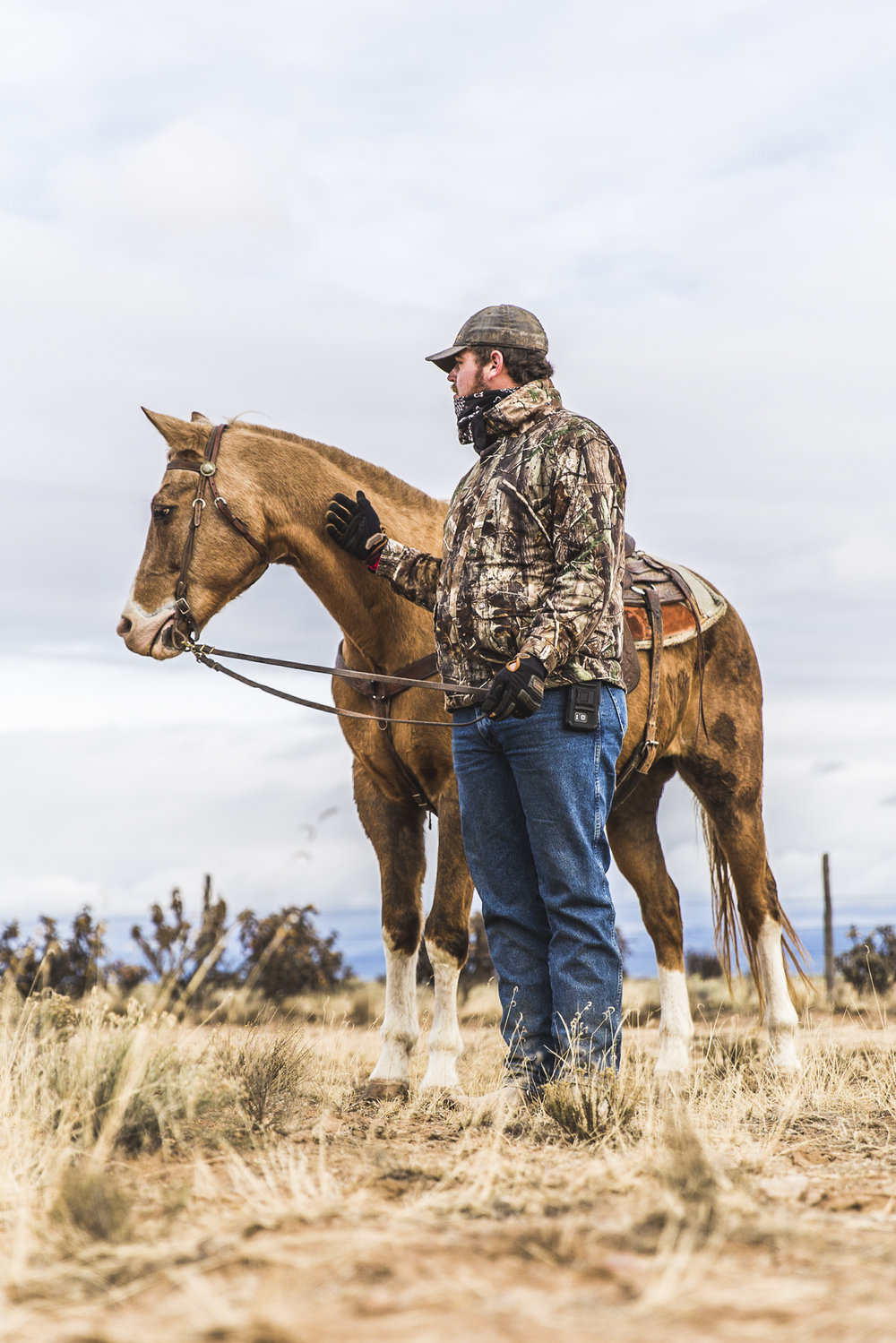 A horse trainer with his best friend and only companion while living on rural tribal land in New Mexico. Our trainer is training his horse to hopefully work in the booming film industry in New Mexico.