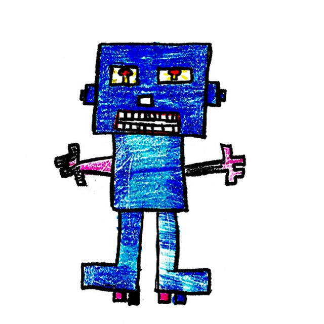 SL013  Robot Name: OMG 6000 What do you think this bot can do? #speculativedesign #makeme #robotdesigns #whatcanyourrobotdo #botsforkids #botsdesignedbykids #make #robots #omg #getcreative