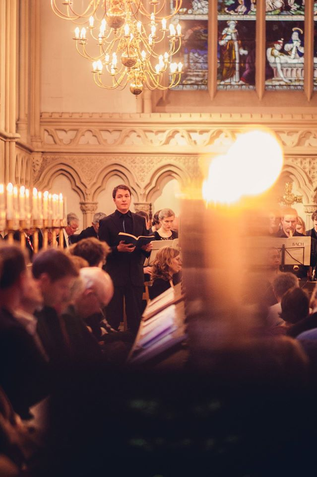 Oliver Gerrish as Alto soloist at Corpus Christi, Cambridge, March 2015 with the Chapel Choir of Corpus Christi and Cambridge Baroque Ensemble.