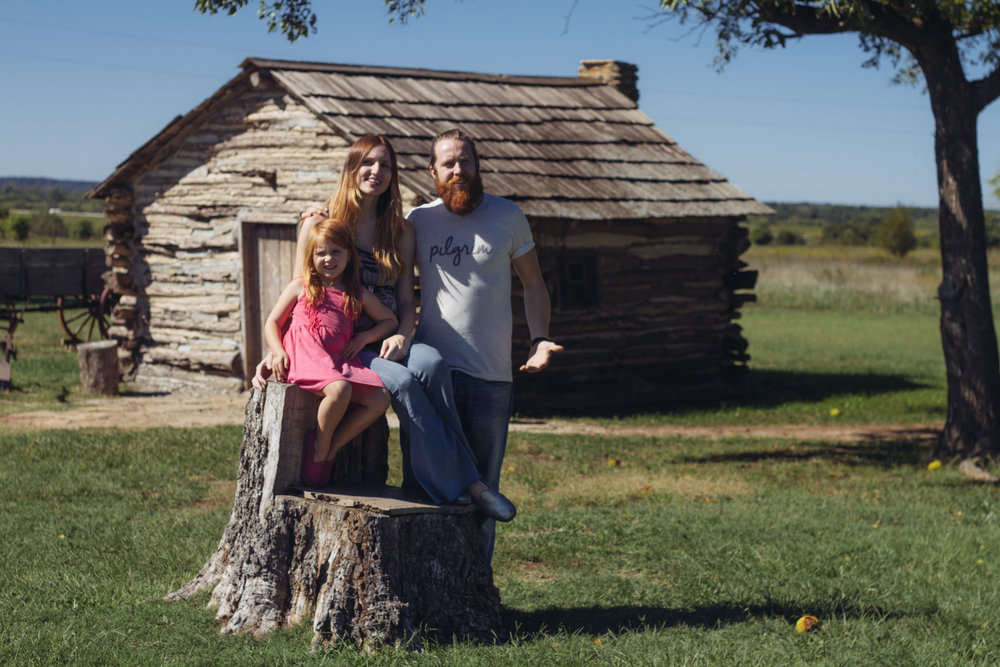 A family photo at The Little House on the Prairie