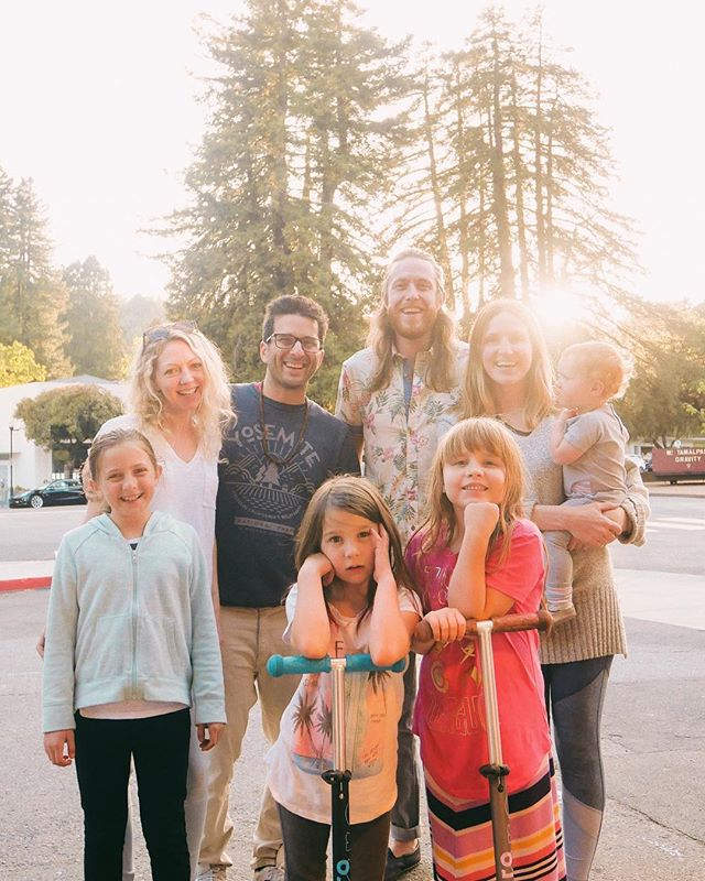 ✨ SOUL FAMILY right here...✨ We are just back from an absolutely wonderful trip up to the Bay Area for our third story and show for @airstream_inc 's #LeaveItBeautiful which featured and benefited the awesome non-profit, @soulshoppers! Annnnd we owe a massive thank you to this family right here!  @coachaaronschiller & @artpantry, of @museandthecatalyst (follow, listen, LOVE), and their girls, who we met during our #endlesscaravan tour (they were the next family after us) and who are now our dear friends and chosen soul family.  Anyway, these lovely people hosted us all week, helped host our concert, connected us with Soul Shoppe and Aaron even spoke a little something during the show.. we could not be filled with more gratitude for all this and for just knowing them.  Thank you guys!! . The show itself was an absolutely beautiful event with so much light.  Amy MacClain from Soul Shoppe opened the set with her lovely voice and thoughtful songs, and talked about all that Soul Shoppe does to #LeaveItBeautiful, sharing some amazing stories of kids whose lives have been totally transformed by what they've learned in these programs.  We played a few songs and Aaron Schiller talked about the beauty of all these little synchronicities adding up to this beautiful moment.  It really was a very special evening and it felt so good to work in such a collaborative way!  Inspiration was enjoyed by all 🌈 . Sadly though, we had technical difficulties with our live stream and it's not very easy to view as it cuts in and out 😔 But I will post some snippets in our stories!  And our mini-doc style story will be up soon!  In the meantime, you can find out more about the awesome work that @soulshoppers does through the link in their profile.  I can't emphasize enough how much we love and support what they do and how we want to see it grow. . Much love, Pilgrim . #pilgrimlife #leaveitbeautiful #airstream