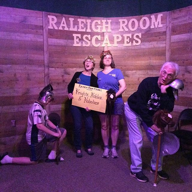 Hear ye, hear ye! Another score for the Nobles today in Knight, Nobles, and Nobodies—huzzah! Think you can beat out your friends and family for control of the kingdom? Put it to the test and BOOK NOW! www.raleighroomescapes.com/book-now/ . . . . #raleigh #nc #escape #roomescape #escaperoom #fun #weekend #birthday #friends #family #goodtimes #durham #chapelhill #Knightdale #Apex #Cary #teambuilding #trappedinaroomwithazombie #containthetrampingground #devilstrampingground #quarantine #zombie #lore #legend  @ Raleigh Room Escapes LLC