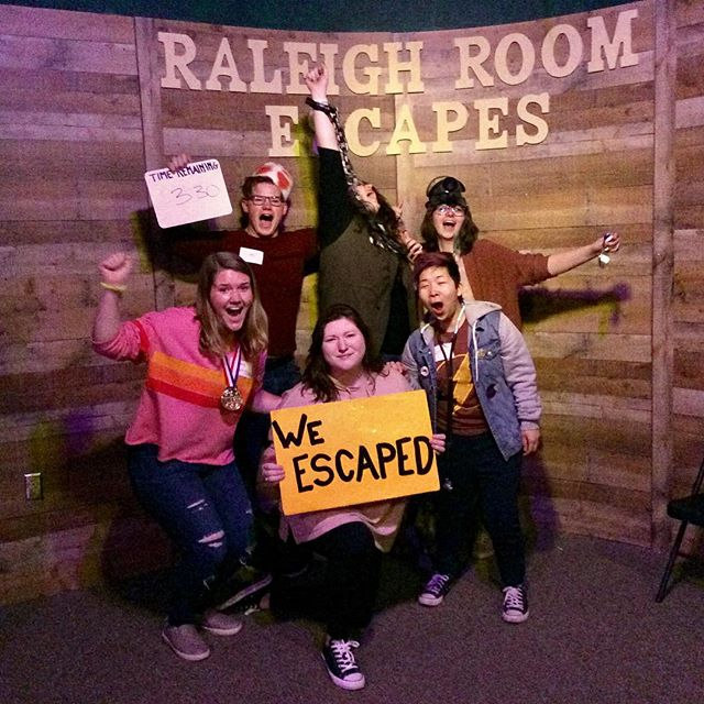 Saturday victories at Raleigh Room Escapes! Think you can join the victorious few?  BOOK NOW! www.raleighroomescapes.com/book-now/ . . . . #raleigh #nc #escape #roomescape #escaperoom #fun #weekend #birthday #friends #family #goodtimes #durham #chapelhill #Knightdale #Apex #Cary #teambuilding #trappedinaroomwithazombie #containthetrampingground #devilstrampingground #quarantine #zombie #lore #legend  @ Raleigh Room Escapes LLC