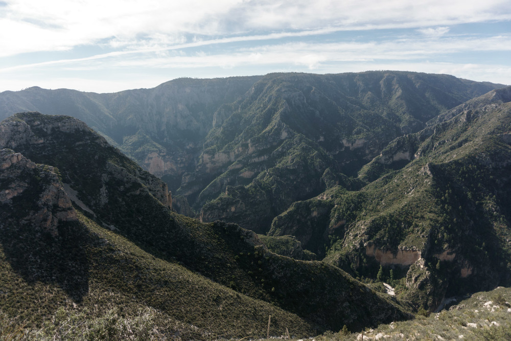 lots of cliffs on the other side of the canyon