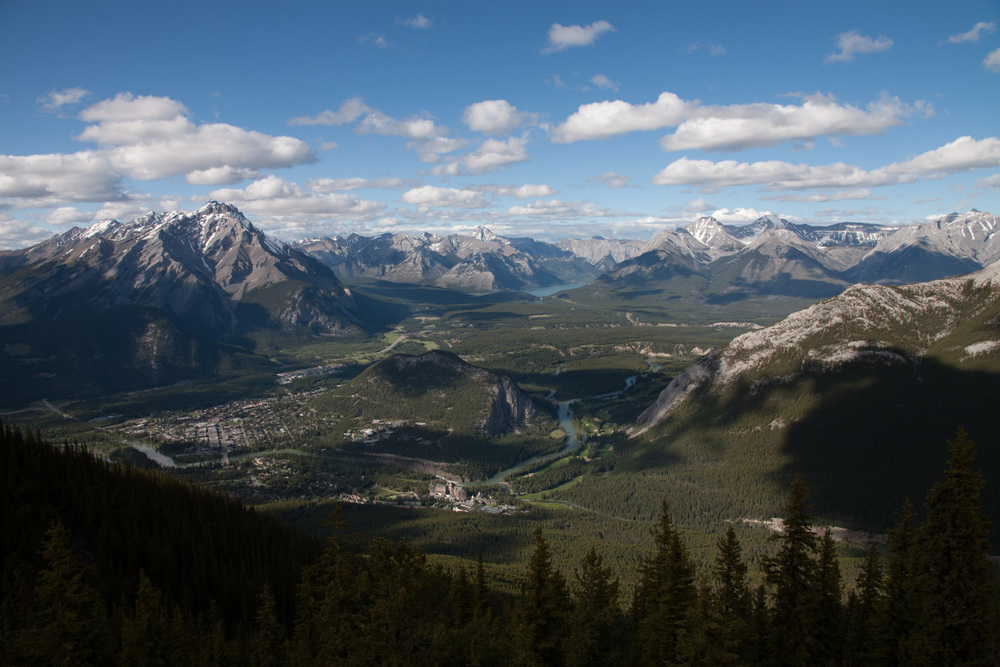 banff town and its surroundings