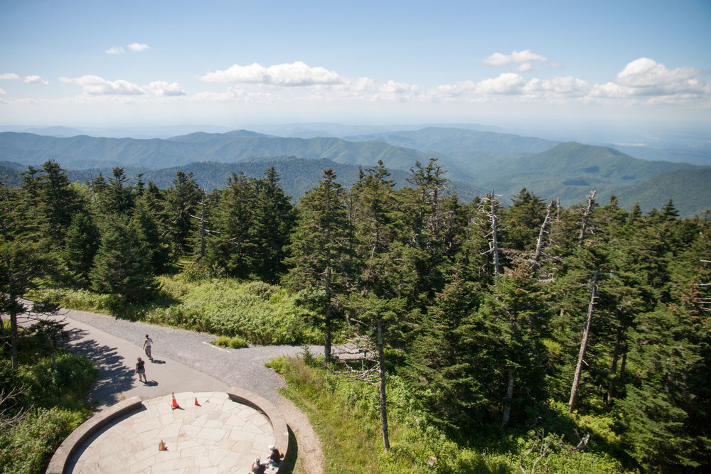 from clingman's dome overlook