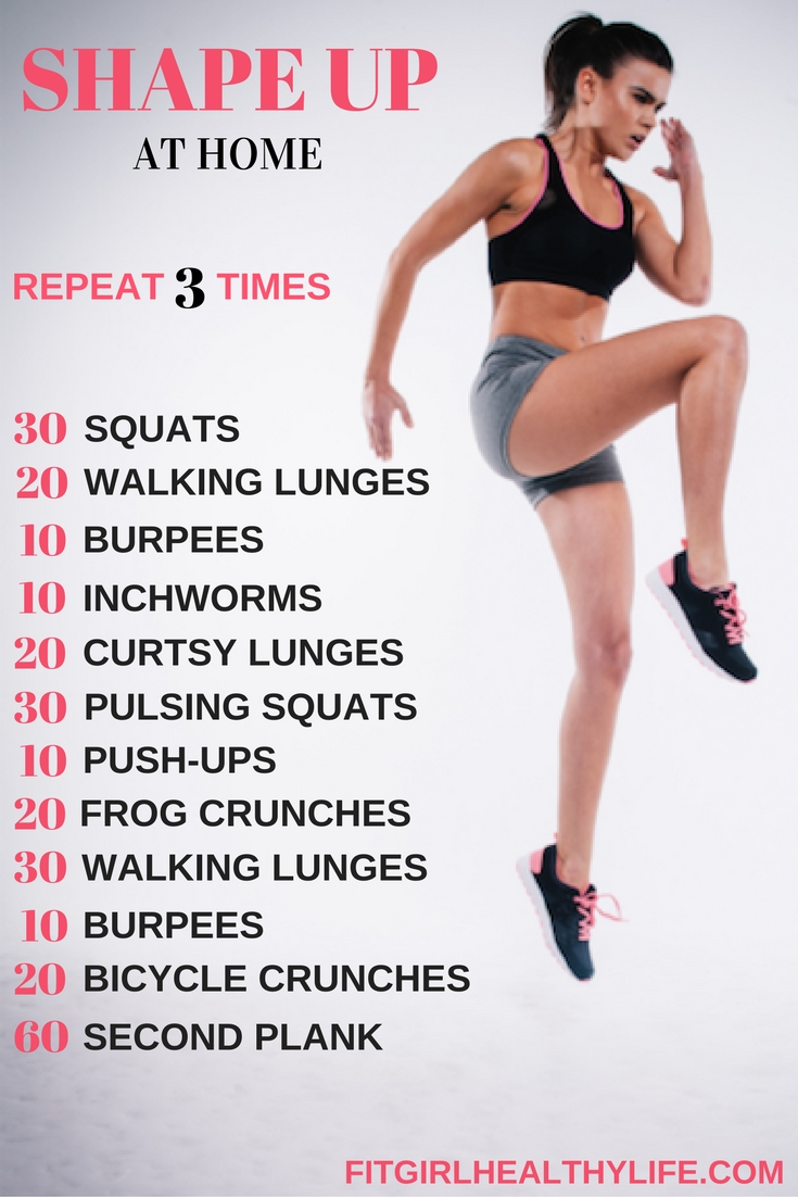 Shape Up At Home u2014 Fit Girl Healthy Life