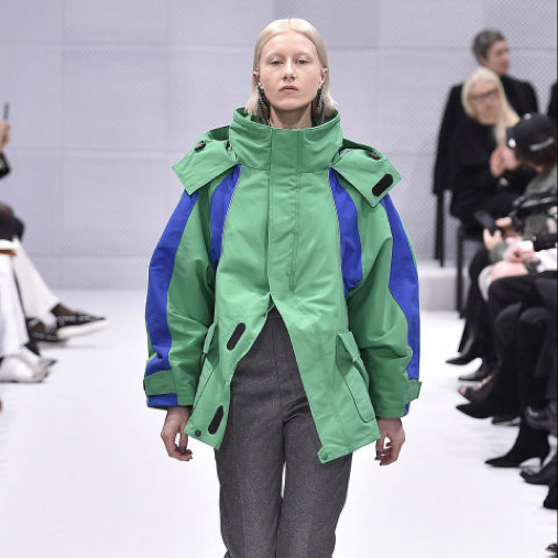 The waxed ski coat advanced from the inclines to the runway on account of the purveyor of cool, Balenciaga's Demna Gvasalia. Whip out your own North Face or Roxy coats and blend them with slacks and heels for the workplace.