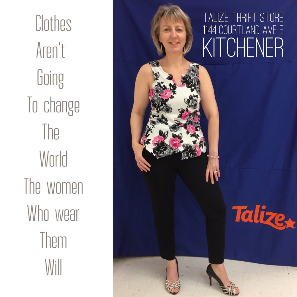 talizethrift What to wear in Spring? Reitmans pants / Lily Morgan top / Suzy Shier shoes  #fashionfriday   #talize   #thrift  #talizekitchener   #style   #fashion   #outfit  #springfashion