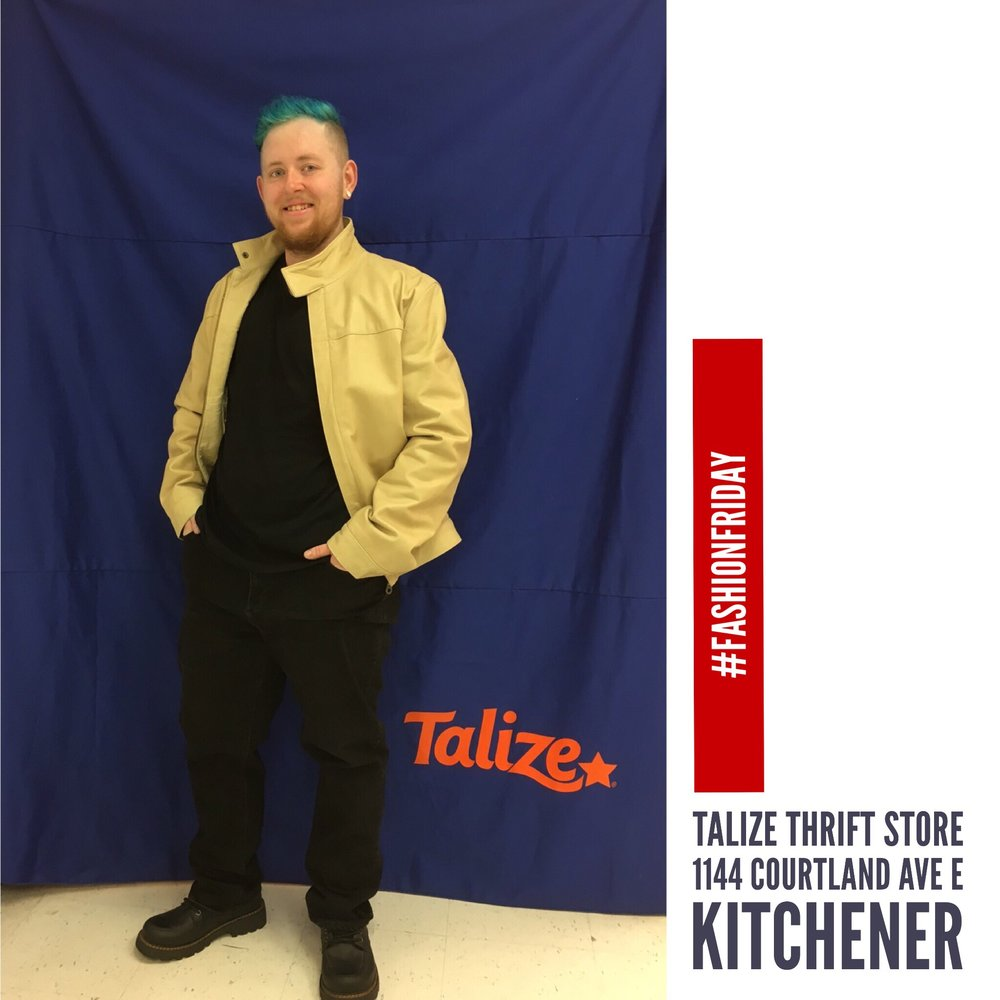 Like  Comment   14 likes   talizethrift Real men real style - Calvin Klein jeans / Hugo Boss top / Gianni leather jacket / Cherokee boots  #fashionfriday  #talizekitchener   #thriftstorefinds   #talize  #thrift   #springfashion   #fashion   #style  #mensfashion