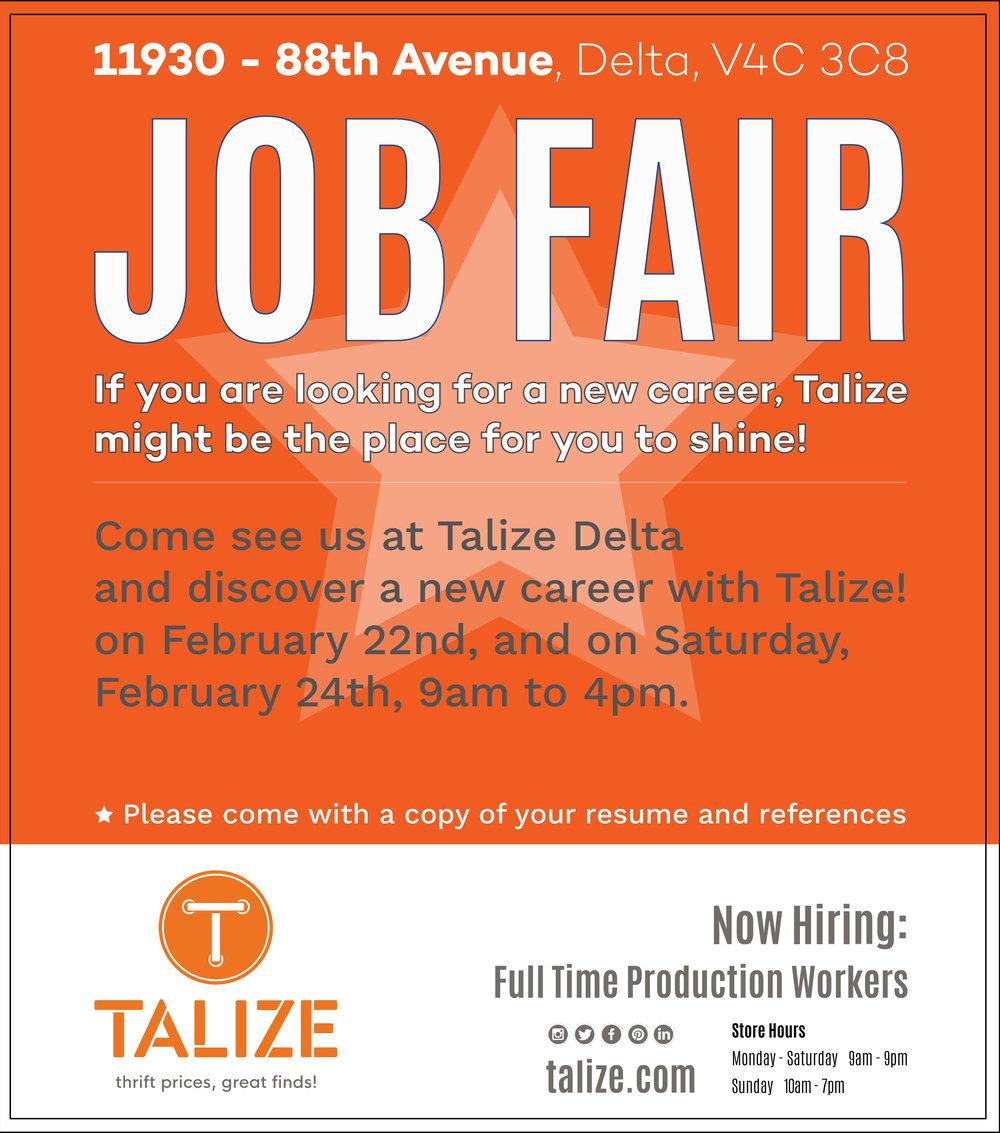 Talize Delta Job Fair