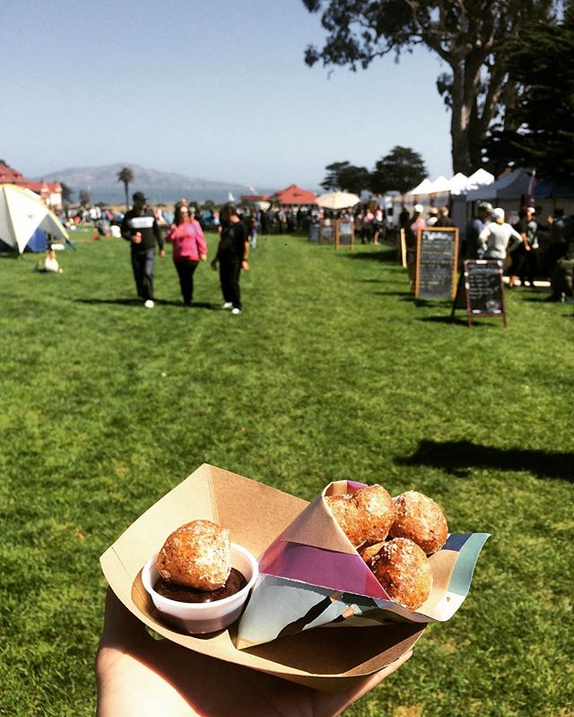 It's an absolutely gorgeous day at the #PresidioPicnic today! Come get some fried dough and a refreshing lavender lemonade! #zeppole #🍩 #labordayweekend #datdough