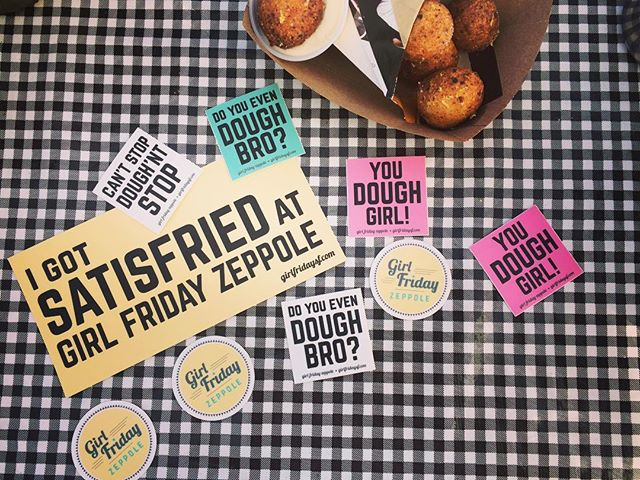You know you need some @girlfriday_sf swag! New stickers available this weekend at @eatrealfest just $1 each! #reppindatdough