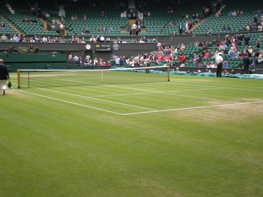 My amazing view of Centre Court after camping in the queue