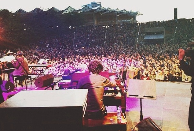 On stage with Dr. John at Primavera Sound in Barcelona, Spain. 2014.