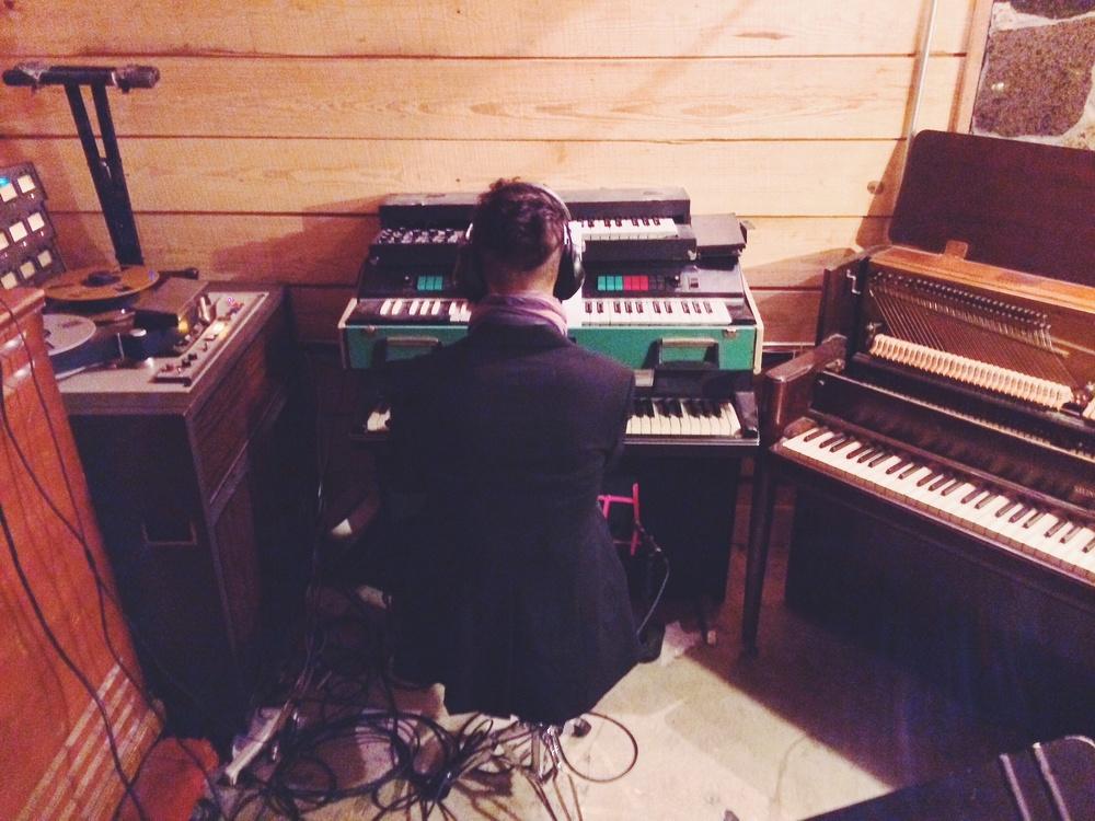 Bomb Shelter Studios, Nashville. Recording with Bjorn & The Sun.