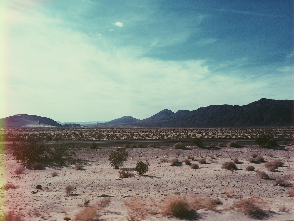 Somewhere in a van about 2 hours outside Vegas.