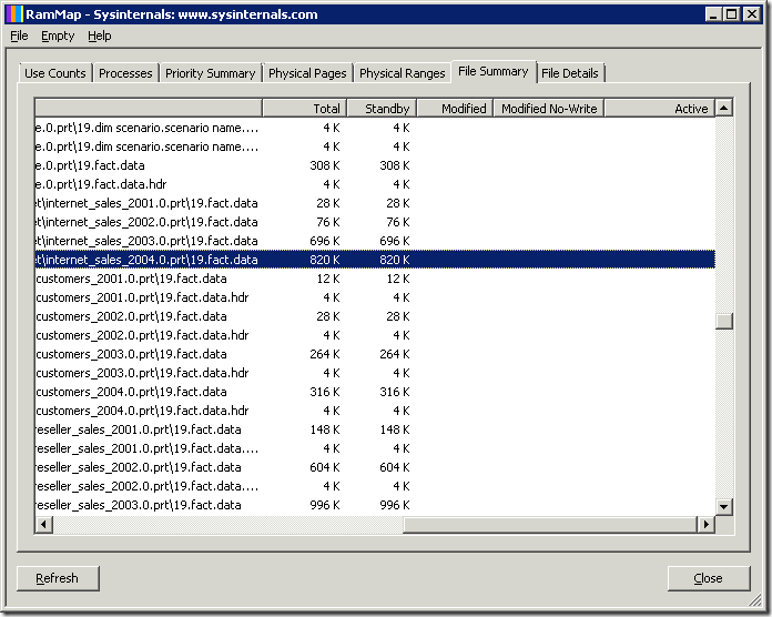 Image 3: RAMMap showing standby system file cache