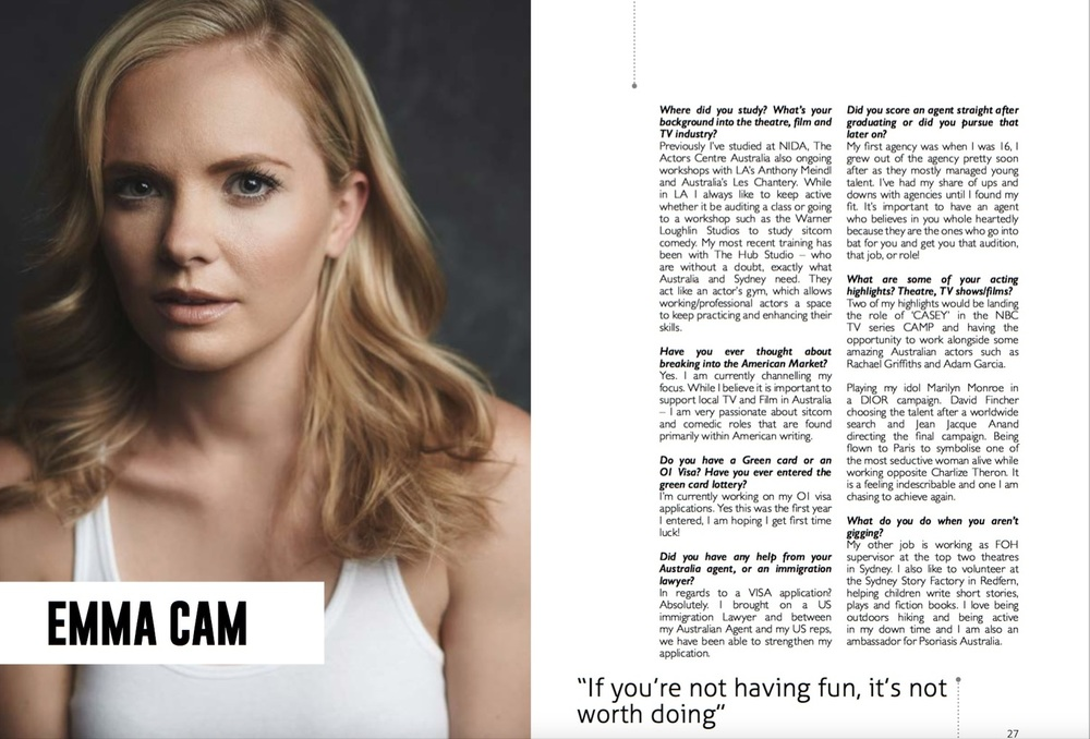 EATON client EMMA CAM was featured in the Dec issue of Access All Areas (AAA).  READ MORE
