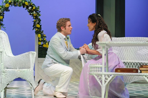 Austin Caldwell and Jessica Waldman inThe Importance of Being Earnest