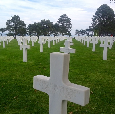 Here rests in honored glory a Comrade in arms known but to God. (Myrmidon @ Normandy American Cemetery - 2014)