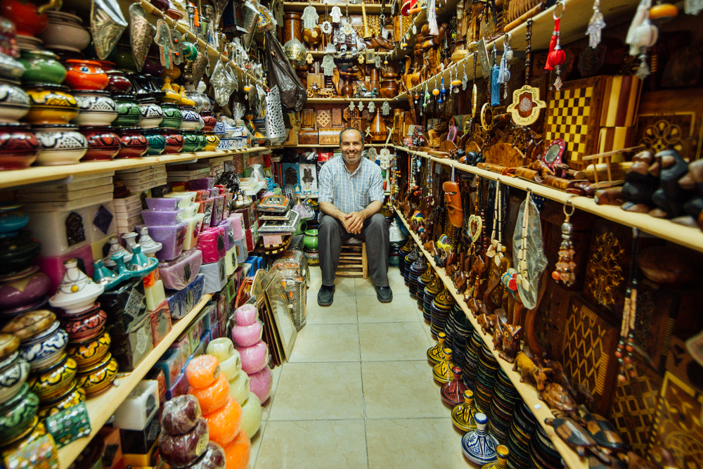 Moroccan shopkeeper