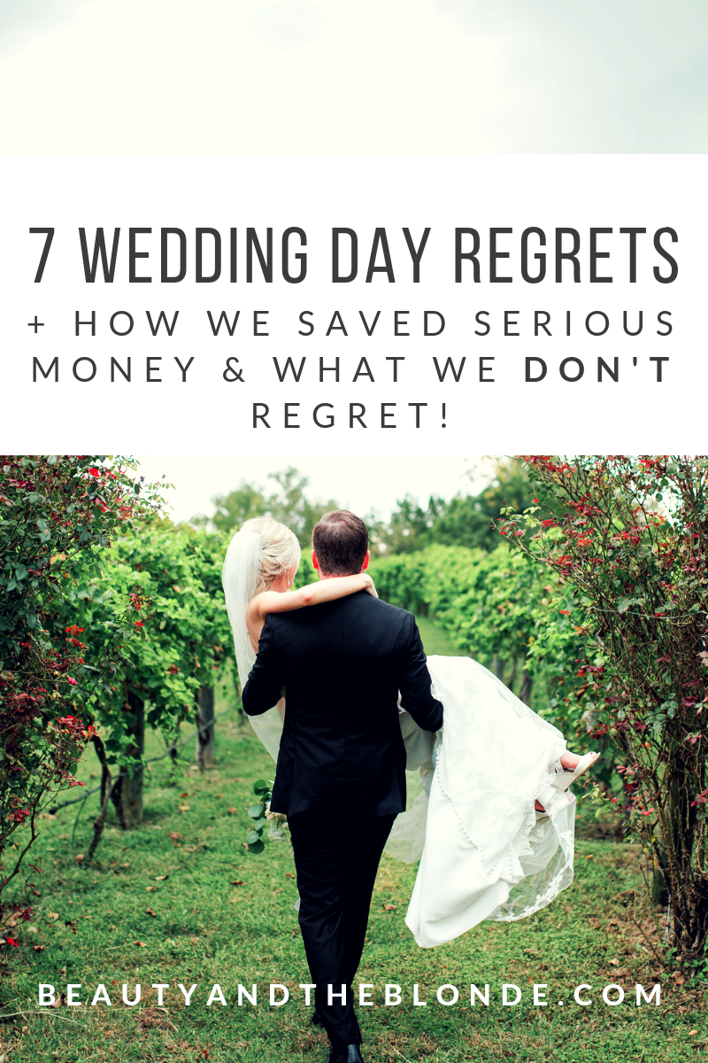 "7 wedding day ""regrets"" and ways we saved money! - I really 100% don't regret a single thing. Most of the things I'm sharing that we ""regret"" really aren't that big of a deal to us, but they are just things we discussed and looking back, things we could have done differently. One thing I think a lot of people always want to ask brides is, if they regret how much they spent on their wedding.CLICK HERE TO READ MORE…"