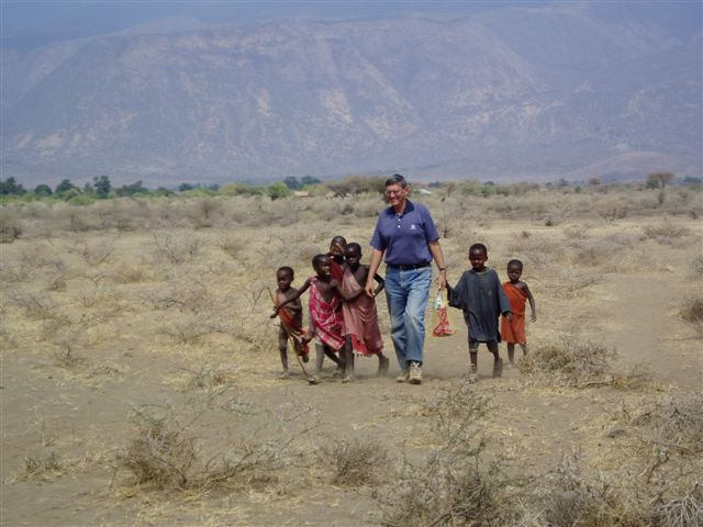 Dr Russell Clark in Tanzania in 2006.